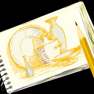 sketchpad still life unfilled Thumbnail