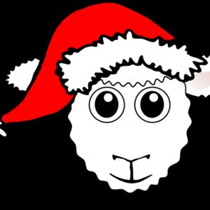 Sheep 01 Face Cartoon with Santa hat Thumbnail