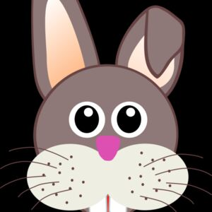 Rabbit 001 Face Cartoon Thumbnail