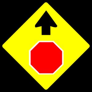 Leomarc caution stop sign Thumbnail