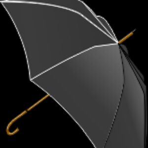 LX Black Umbrella Thumbnail