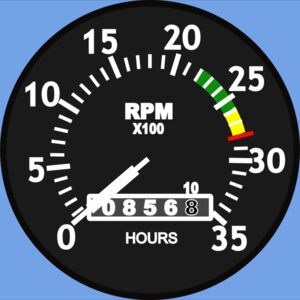 Startright Cessna Type Aircraft Tachometer Thumbnail